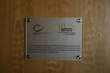Placa comemorativa 10 anos CIEJD