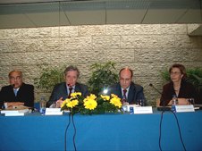 Fausto Quadros, Fernando Neves, António Vitorino e Margarida Cardoso - Mesa Frontal