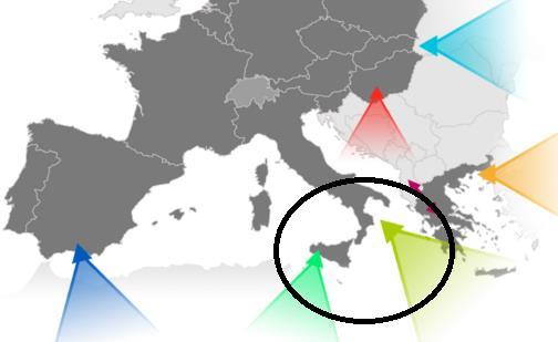 Rota central - Migração para a UE - 2017