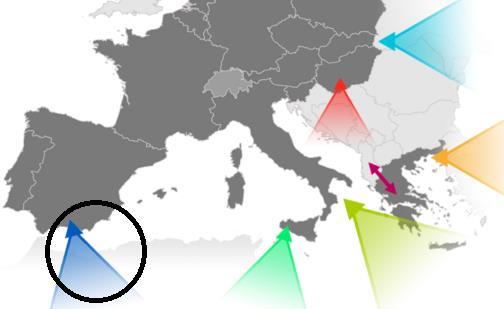Rota ocidental - Migração para a UE - 2017
