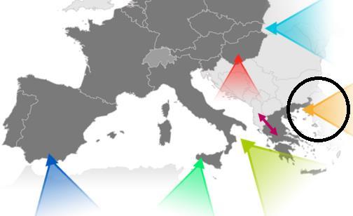 Rota oriental - Migração para a UE - 2017